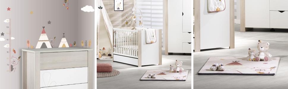 Timouki : déco de chambre indien bébé par Sauthon