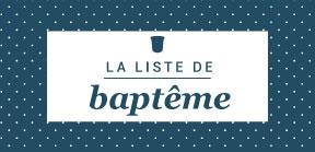 La liste de baptême