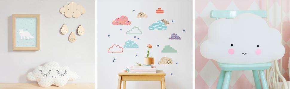 chambre bebe nuage